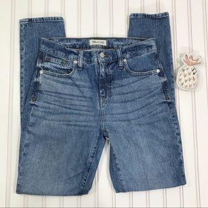 "Madewell 9"" High Rise Skinny Jeans 26T Like New"